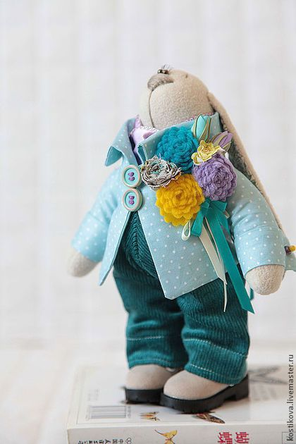 Handmade soft toy Rabbit Заяц в горошек - игрушка заяц,зайцы,зайка,зайка тильда,заяц тильда,заяц игрушка