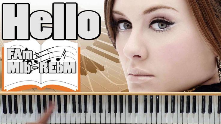 Adele Hello Nuova Canzone al Pianoforte - Come Suonare