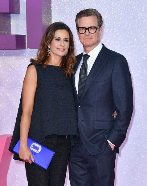 "Colin Firth Photos Photos - Livia Giuggioli and Colin Firth attend the ""Bridget…"