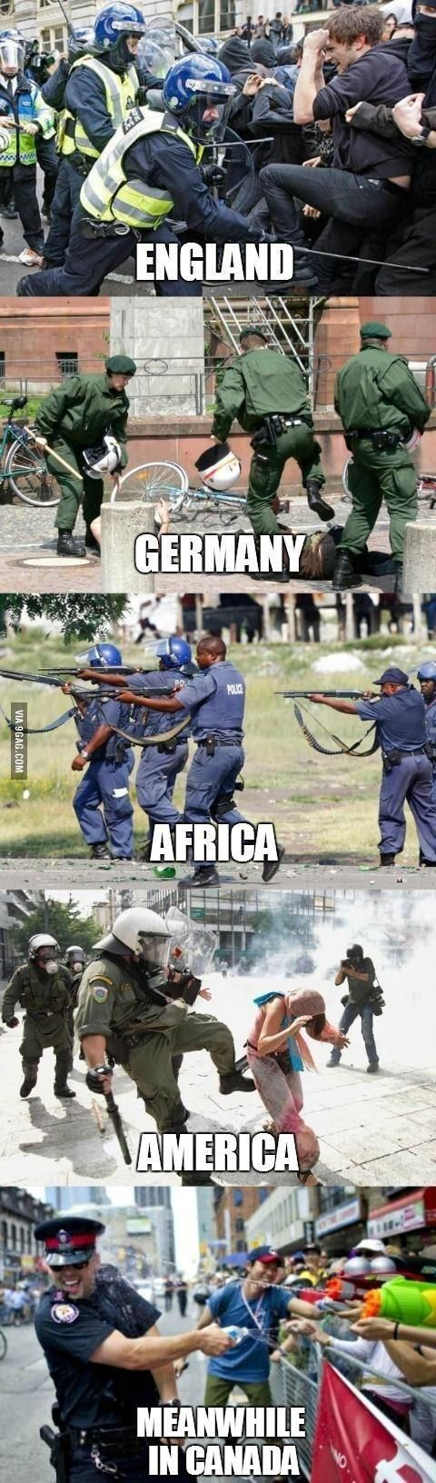 Police brutality across the world.