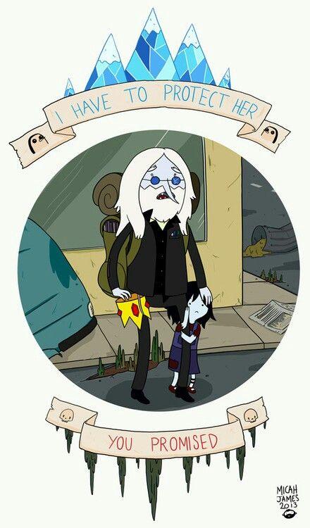 """Adventure Time: Rei Gelado e Marce. """"Eu tenho que proteger ela"""" """"Você prometeu"""""""