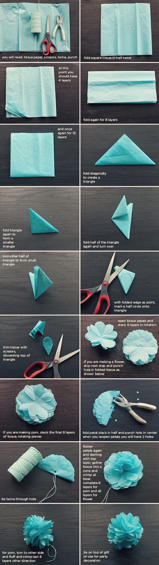 Tutorial Pompones de Papel | Daisy HandmadeDaisy Handmade
