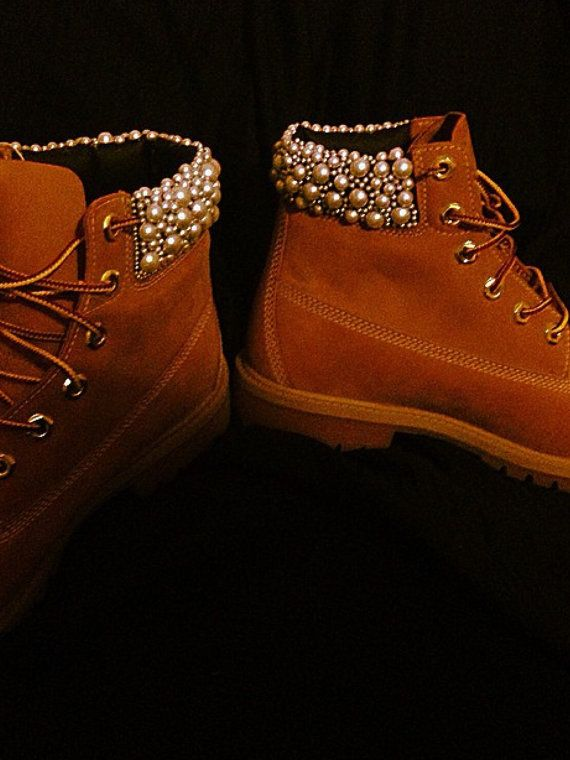 Custom designed timberland boots. Love them!
