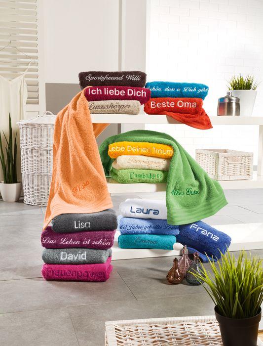 Handtuch Neresheim Inklusive Bestickung In 2020 Handtucher