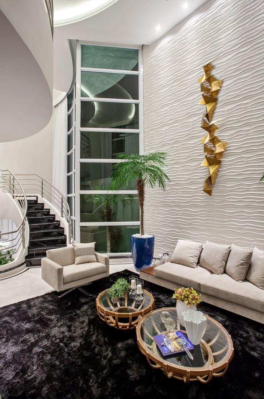Casa sobrado com fachada moderna em terreno 12x30 - conheça todos os ambientes! - DecorSalteado