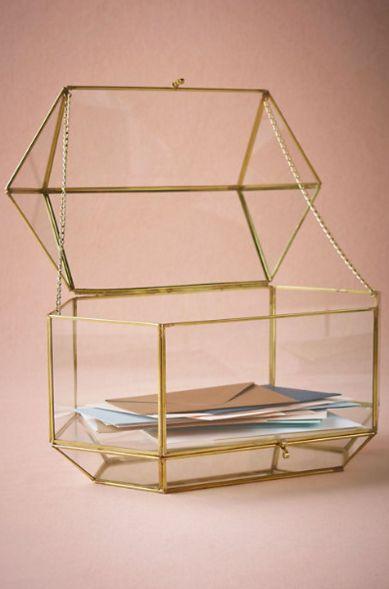 Geo terrarium box - perfect wedding card holder!