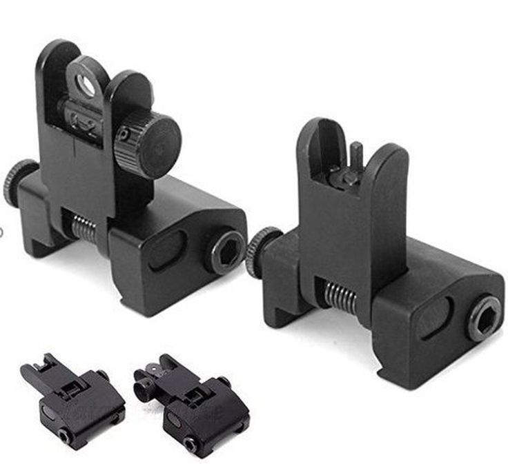 Flip-open Front and rear Iron Sight Set for Picatinny Rail