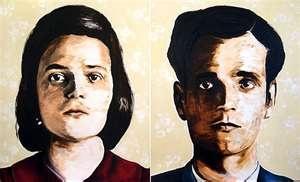 Sketches of Sophie & Hans Scholl's mug shots. Inspiring story that I still remember from World Lang. Pedagogy.