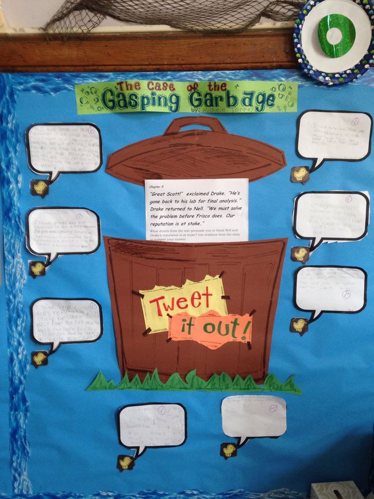 Case of the Gasping Garbage 3 rd grade Common Core Ready Gen Tweet board ... Students tweet their thoughts about different passages in the text after each chapter
