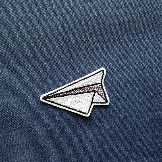 Paper plane patch origami Iron on Patch Cute patch origami