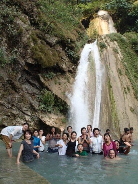 Group outing to the waterfall