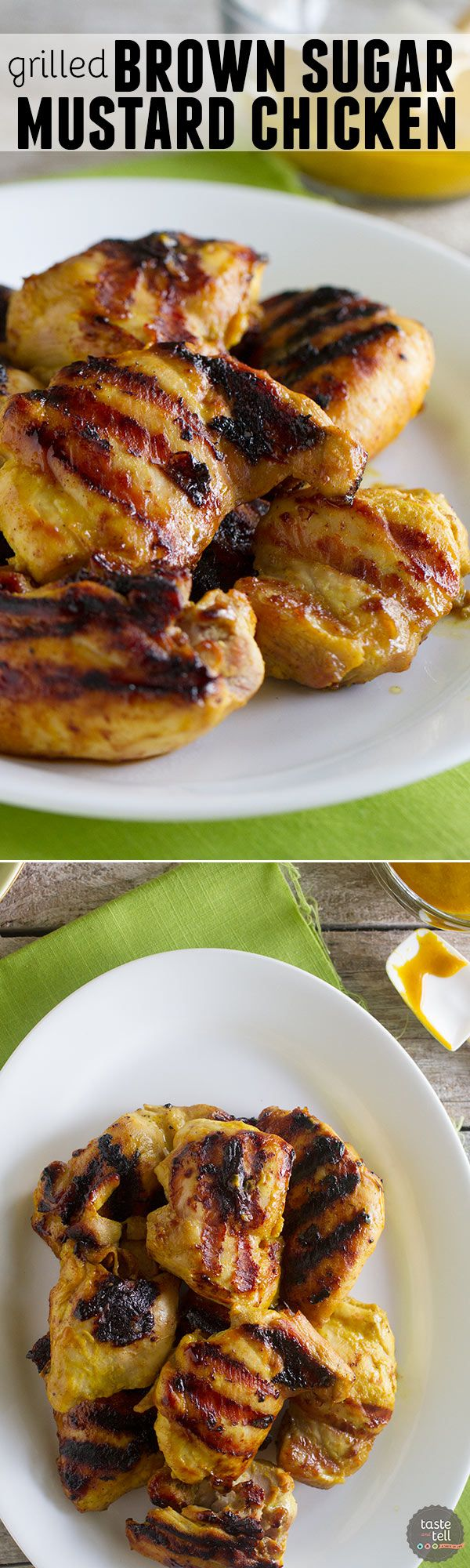 Need dinner on the table in a flash? This Grilled Brown Sugar Mustard Chicken is your answer! Chicken is grilled in a sweet mustard sauce and on the table in 20 minutes.