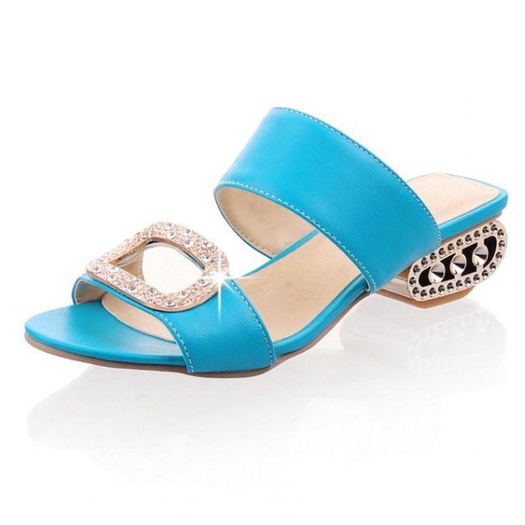 Sandali delle donne 2016 di estate delle signore pantofole scarpe da donna tacchi bassi sandali grandi dimensioni 9 10 moda arancione scarpe di strass giallo in  Sandali delle donne 2016 di estate delle signore pantofole scarpe da donna tacchi bassi sandali grandi dimensioni 9 10 da Sandali delle donne su AliExpress.com | Gruppo Alibaba