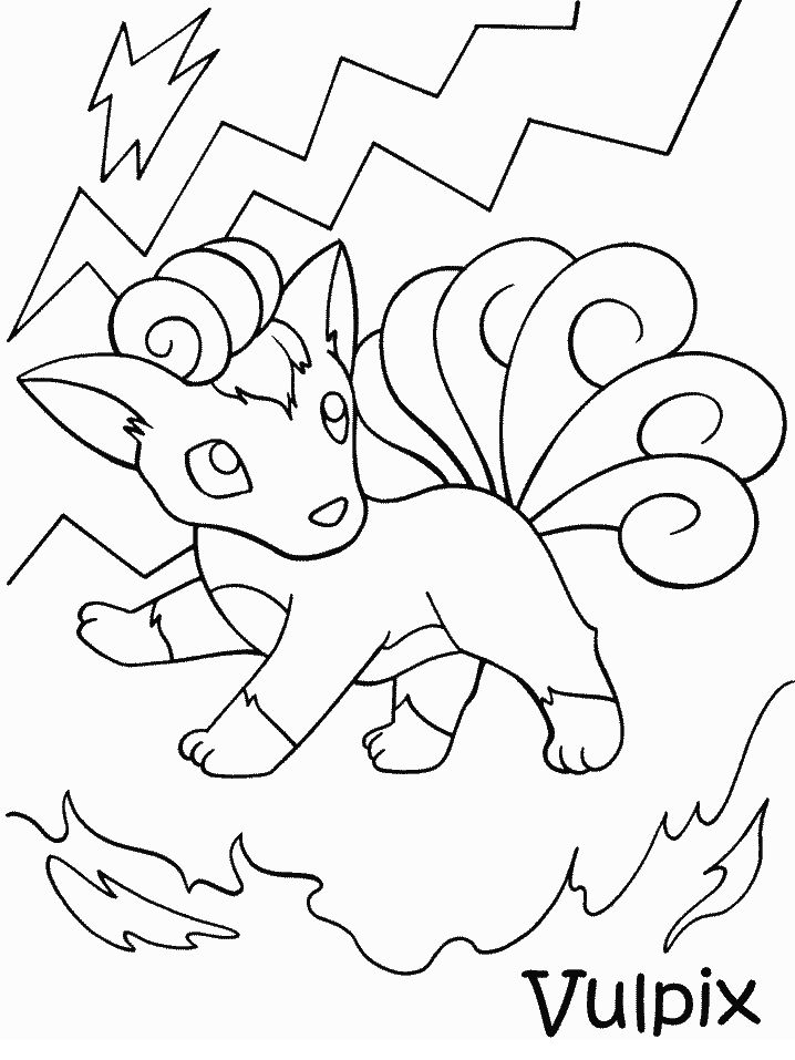 Pokemon 38 Coloring Pages