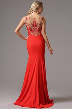 eDressit Red Straps Maxi Prom Evening Dress (00162302)