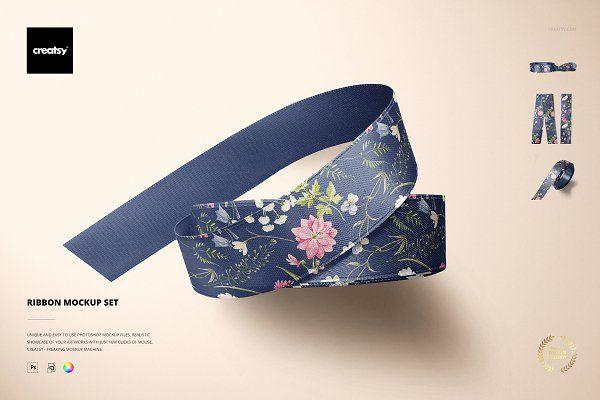 Ribbon Mockup Set By Creatsy On Creativemarket Paper Mockup Mockup Design Mockup