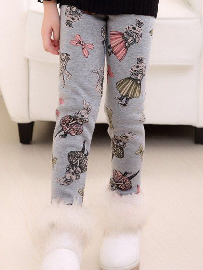 $9.81 Plush Fleece Lined Printed Leggings