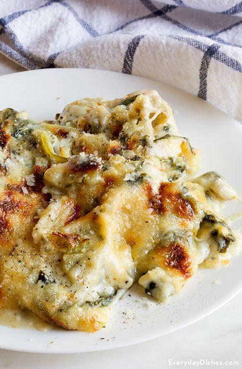 Artichoke Chicken Florentine Casserole Recipe