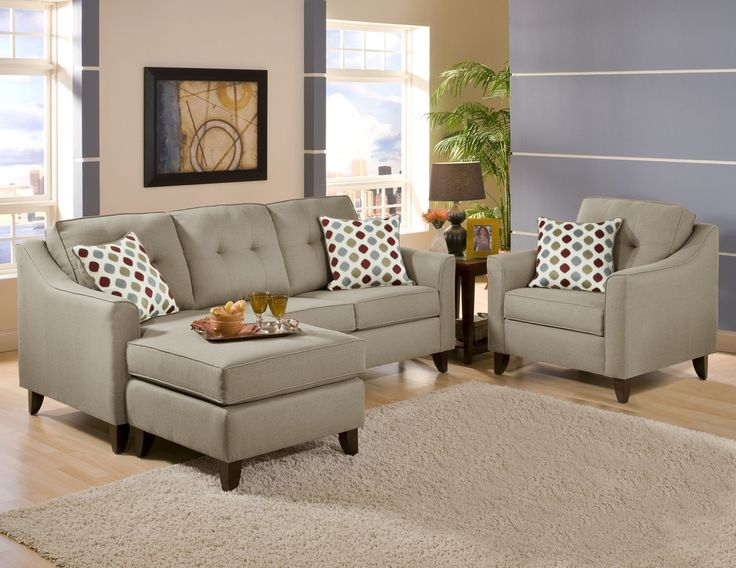 Sofa With Reversible Ottoman- BEL Furniture Houston & San Antonio