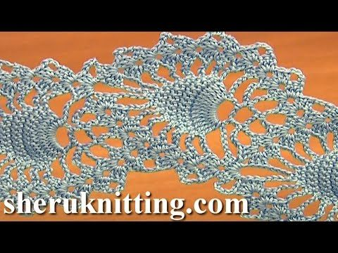 Stripy Lace to Crochet Tutorial 1 Part 2 of 2 Crochet Tape Lace - YouTube