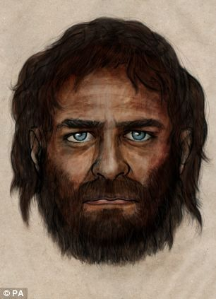 Is this the first man with blue eyes? Experts astonished by 7,000-year-old DNA revealing caveman with African and European genes