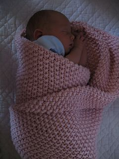 Seed stitch (moss stitch) baby blanket