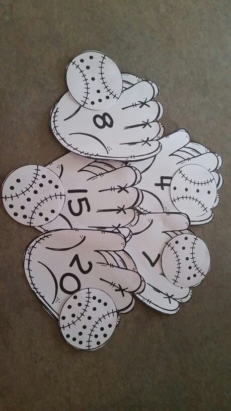 This is a super fun baseball math number correspondence game. Students count the number of dots in the baseball and find the matching number on the baseball glove. After number 9, all of the baseballs have 10 dots in the middle section so teachers can tea