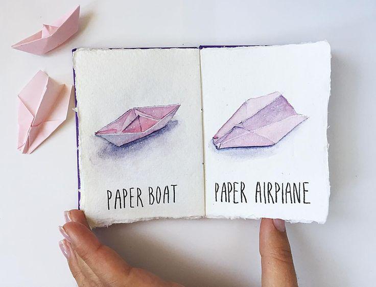 Paper booth & paper airplane sketches by Viktoriya Metelitsa