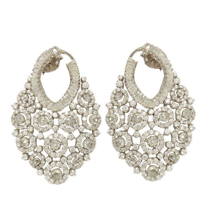 Diamond Earring In 18k Gold By Anmol Jewellers Of Mumbai India Description Pinner