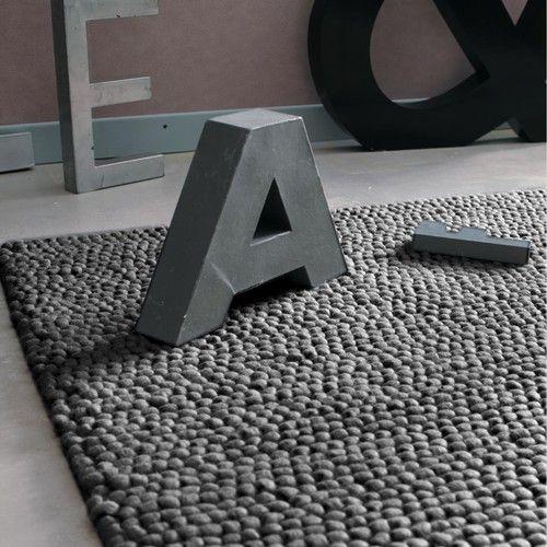 Grijs wollen INDUSTRY tapijt 160 x 230 cm