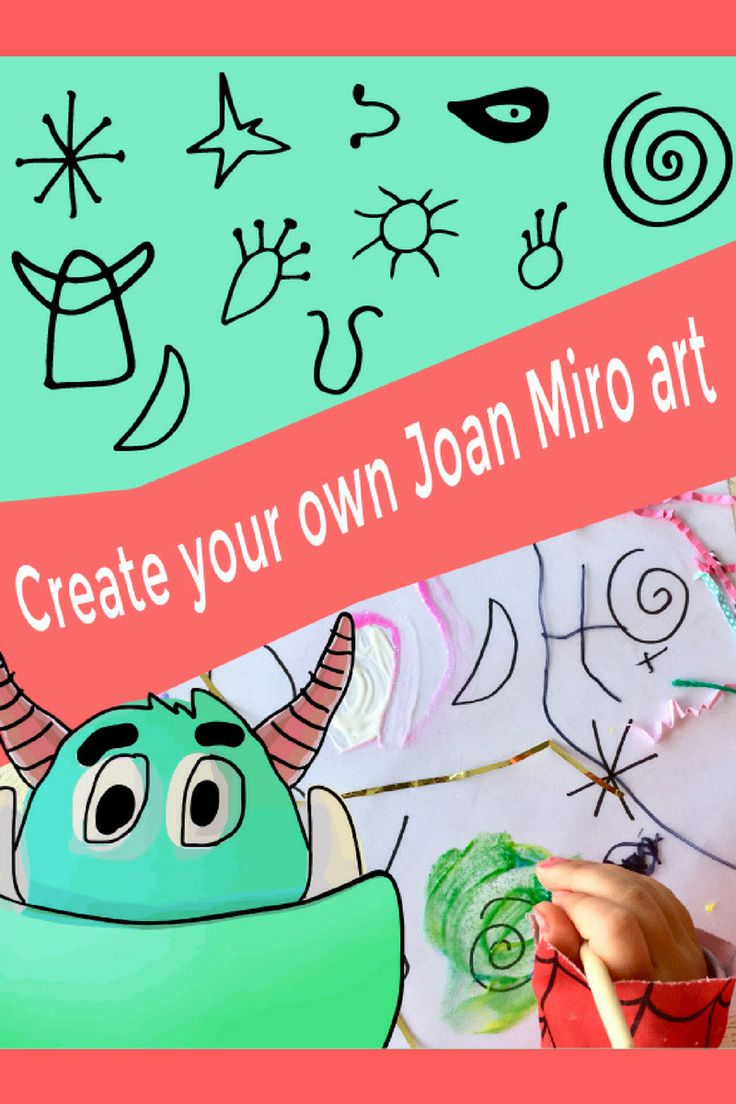 Mark making the Joan Miro way.  A great art project for kids.