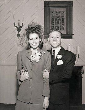 Ava Gardner Mickey Rooney Wedding January 10