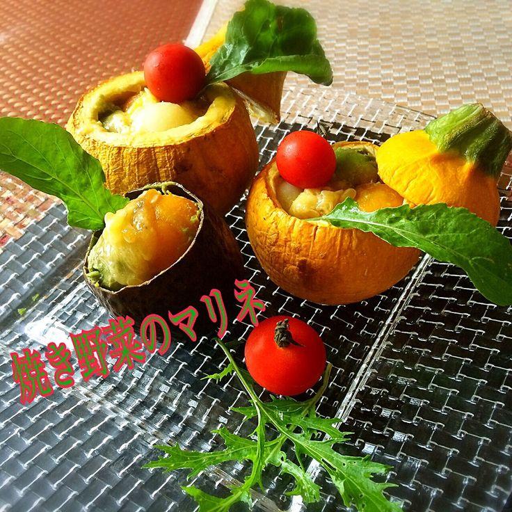 Miki Sanoさんの料理 今日の焼き野菜 コリンキー ズッキーニ アボカド ジャガイモ 人参で焼き野菜のマリネ