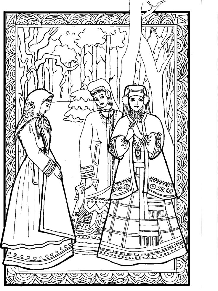 Russian Princess Coloring Pages : Best images about russian art and craft projects on