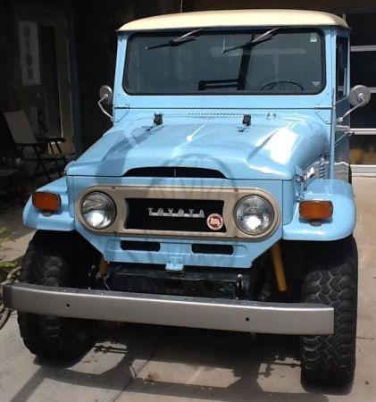 Lots Of Original Parts On This Baby Blue Fj 1973 Toyota Fj 40 Craigslist Dreams Pinterest