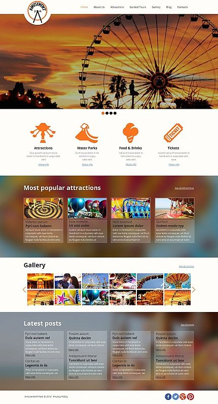 259 best moto cms themes images on pinterest html templates web design inspiration travel destination theme park template 49439 amusement park moto cms html template maxwellsz