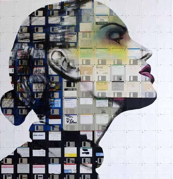 Recycling Old Floppy Disks for Amazing Art, Eco Gifts and Wall Decorations
