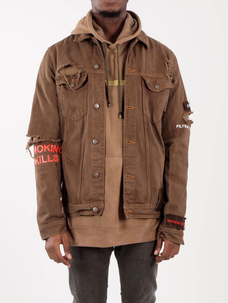 1000  ideas about Brown Denim Jacket on Pinterest