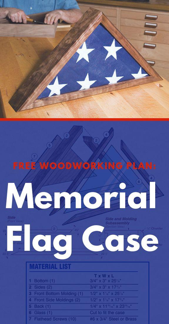 Free Plan: Memorial Flag Case