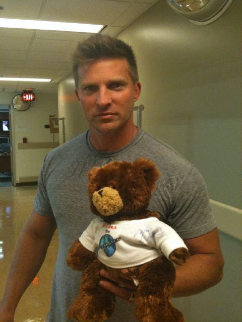 Steve Burton as Jason with Miles by Bears On Patrol, via Flickr