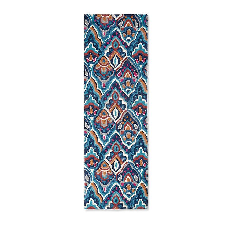 Our Skylar Outdoor Runner captures a more bohemian spirit, layered with    artful petals, a more elegant and richly colored step away from traditional    pastels of the spring season. And, in durable, easy-care 100%    polypropylene, this is a real find. After all, shouldn't it be able    to capture dirt and capture your attention at once? Hand-hooked    construction, with coordinating Skylar Door Mat to complete a look for your    high-traffic area, whether indoors or out.           ...