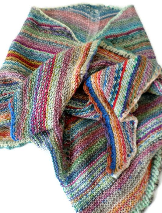 Hey, I found this really awesome Etsy listing at https://www.etsy.com/listing/474403925/shawl-hand-knit-multi-colored-striped