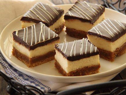 עוגת גבינה עם ריבת חלב ושוקולד... שילוב מנצח