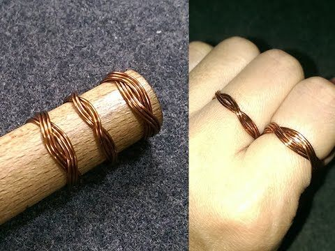 twisted ring - How to make wire jewelery 176
