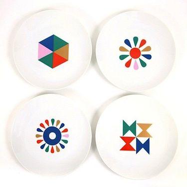 Alexander Girard plate set