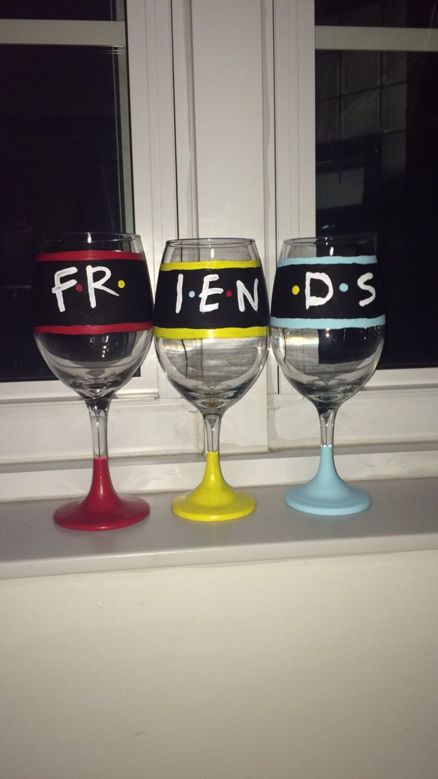 Best Friend Wine Glasses