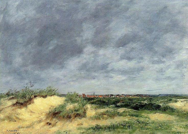 dunes at Berck by Eugene Boudin