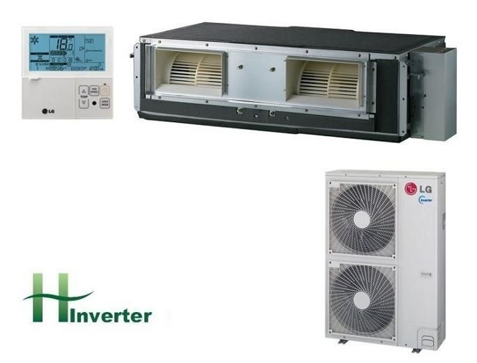 LG UB36H 10kw 34,000btu Inverter Ceiling Concealed High Static Air Conditioning System Aircon247.com | portable air conditioning, fixed air conditioning, easy install air conditioning.