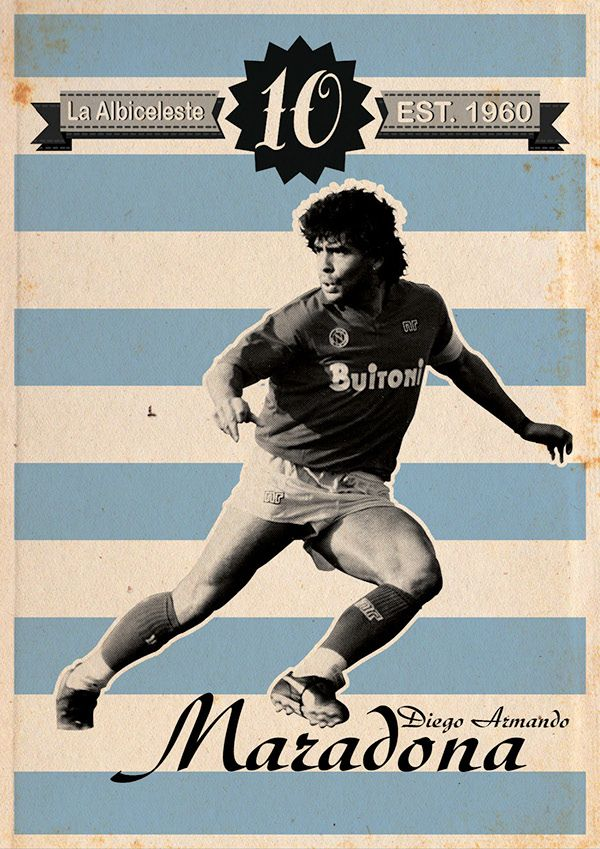 Ten of the best players in the soccer world who wore the number 10 in vintage posters. Available for printing.