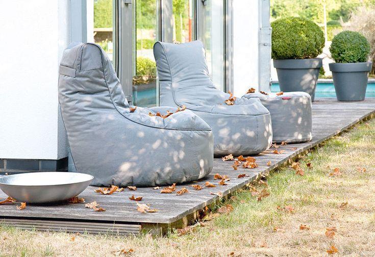 Outbag Sitzsack Slope Fabric  Anthrazit wetterfest Loungemöbel Garten Terasse in Garten & Terrasse, Möbel, Liegen   eBay!